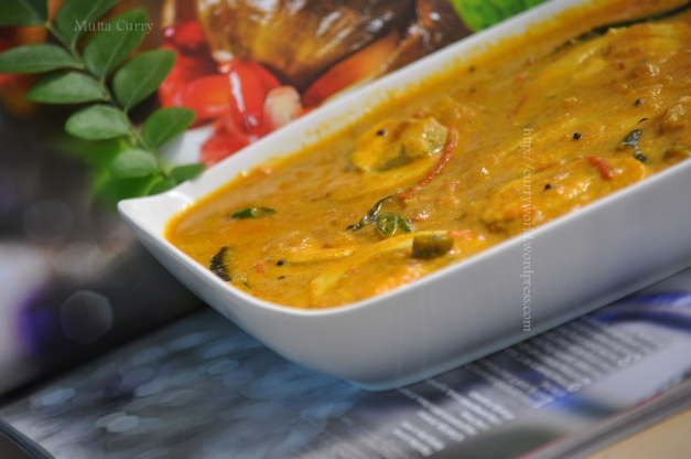 mutta curry in coconut milk