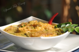 Raw mango green fish curry