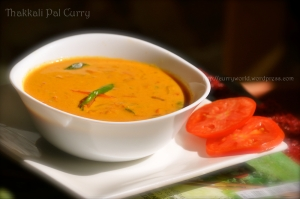 thakkali pal curry/Tomato  gravy in coconut milk