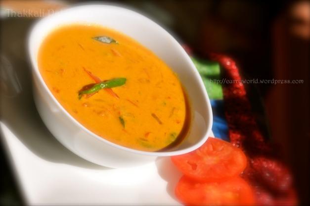 thakkali pal curry/Tomato  gravy in coconut milk