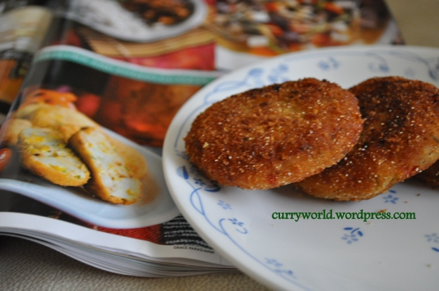 Sweetcorn potato cutlets