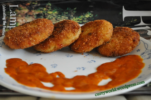 Sweetcorn potato cutlets