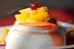Vanilla Panna Cotta with Fruit Salad