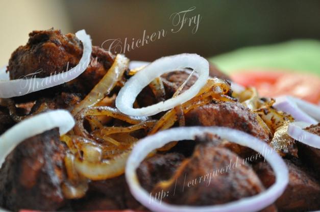 Thattukda style chicken fry