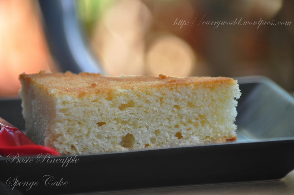 Recipe for sponge cake without butter