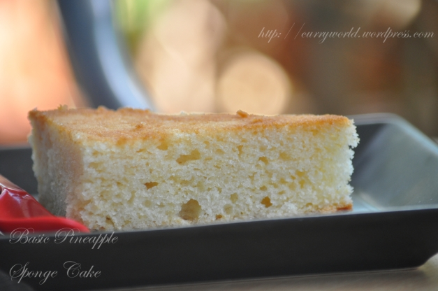 Basic Pineapple Sponge Cake