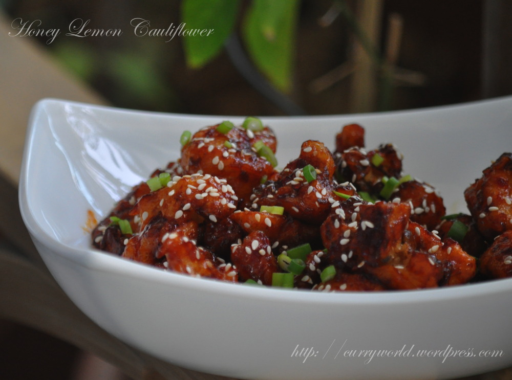 honey chilli cauliflower recipe