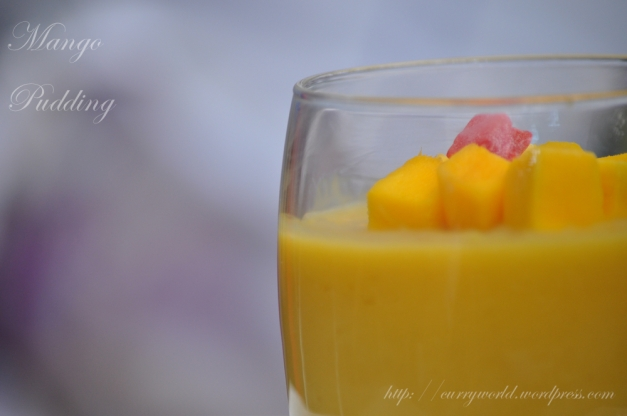 Easy Thai Mango Pudding