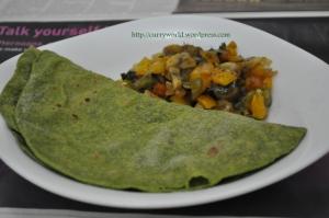 palak chapathi/spinach