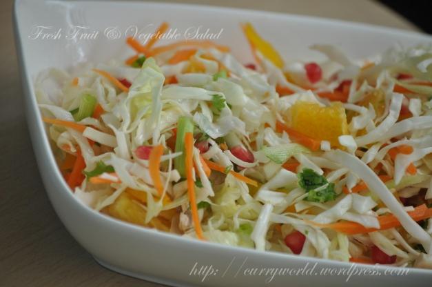 Fresh Fruits & Vegetable Salad