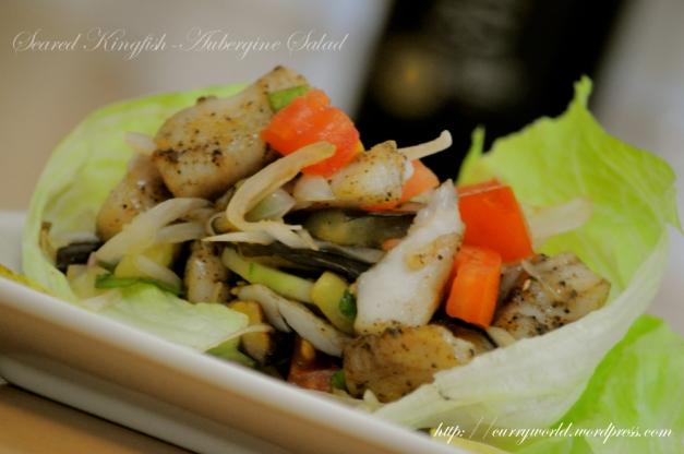 Kingfish-Aubergine Salad