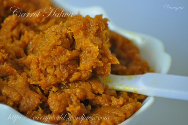 Easy Carrot Halwa