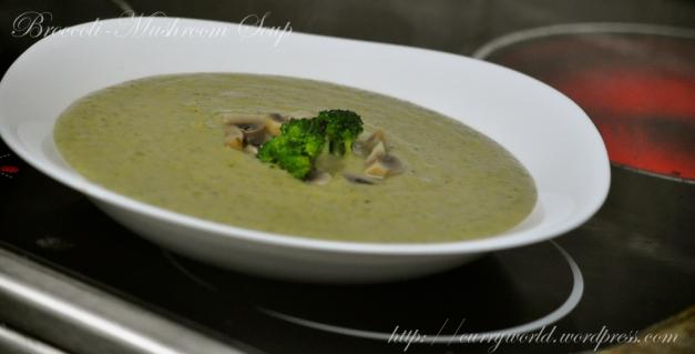 Broccoli-Mushroom Soup