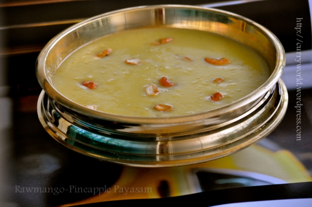 Rawmango -Pineapple Payasam