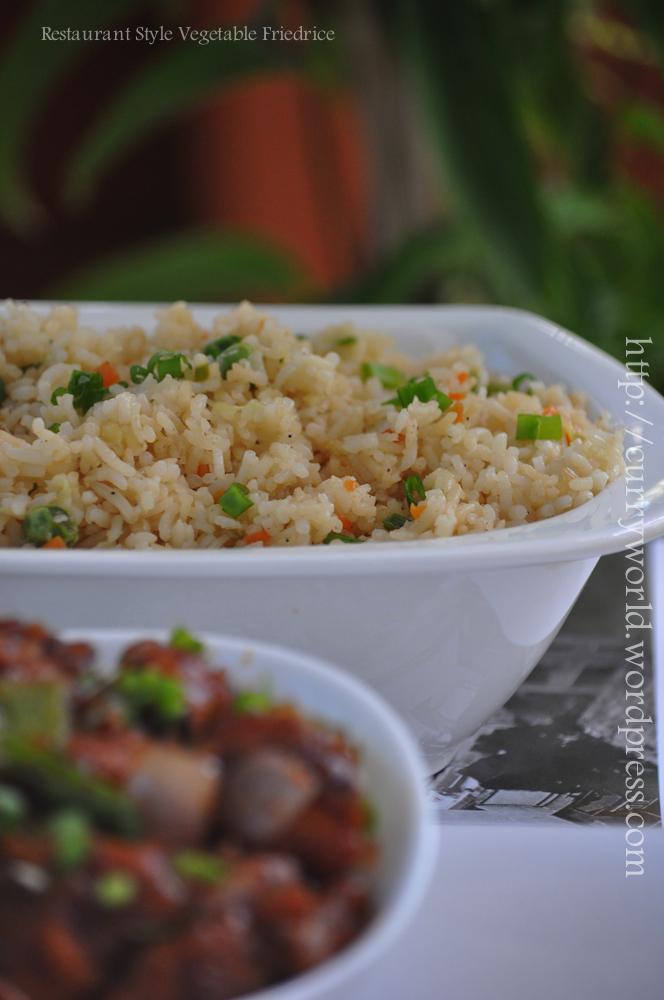 Restaurant style vegetable fried rice curryworld restaurant style veg fried rice ccuart Image collections