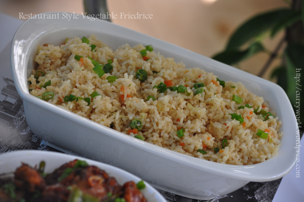Curryworld if i can cook u can too restaurant style veg fried rice ccuart Image collections