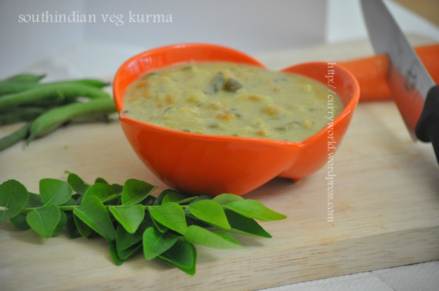 South Indian Style Vegetable Kurma… | Curryworld