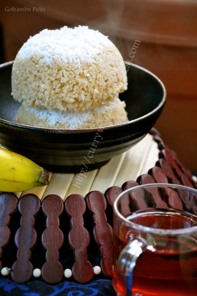 Gothambu Puttu(whole wheat puttu)