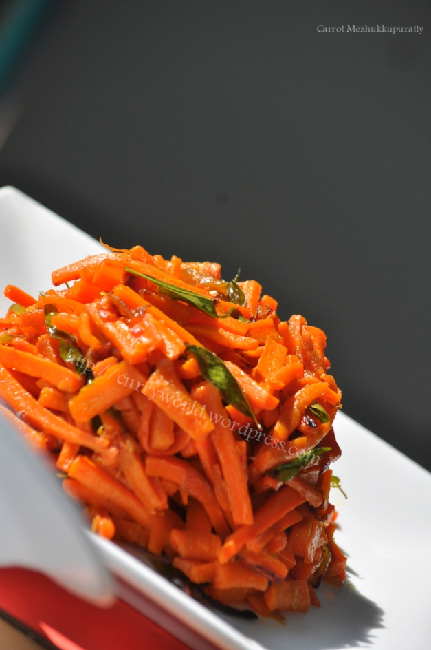 Carrot Stir Fry /Carrot Mezhukkupuratti