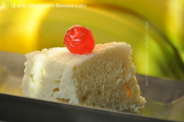2 1/2 minute microwave banana cake