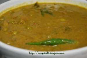 greenpeas masala curry