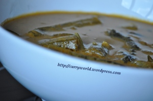 vendakka fish curry style