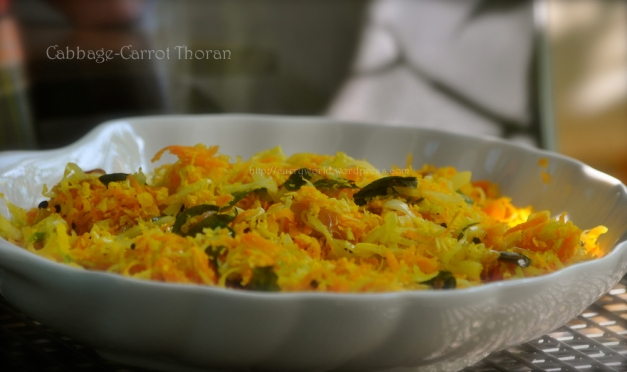 Cabbage-Carrot Thoran