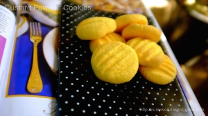 Custard powder cookies