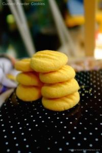 Custard powder biscuits