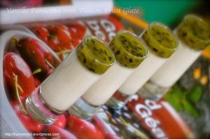Vanilla Panna Cotta with passion Fruit Glaze