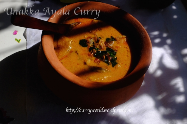 kerala style dry fish curry