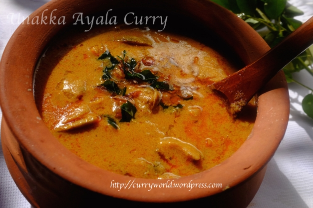 thrissur style unakka meen curry